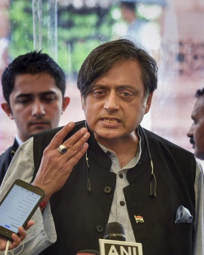 Congress leader Shashi Tharoor. (PTI Photo)