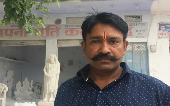 Naval Kishore Sharma, a resident of Ramgarh whose name is mentioned in the FIR as an informer of the incident, claimed that Akbar Khan, alias Rakbar, was beaten to death by cops at Ramgarh police station. (DH Photo)