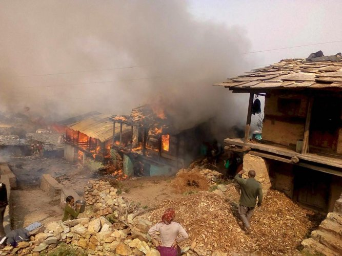 Two rooms of the house were completely charred in the blaze. PTI file photo for representation.