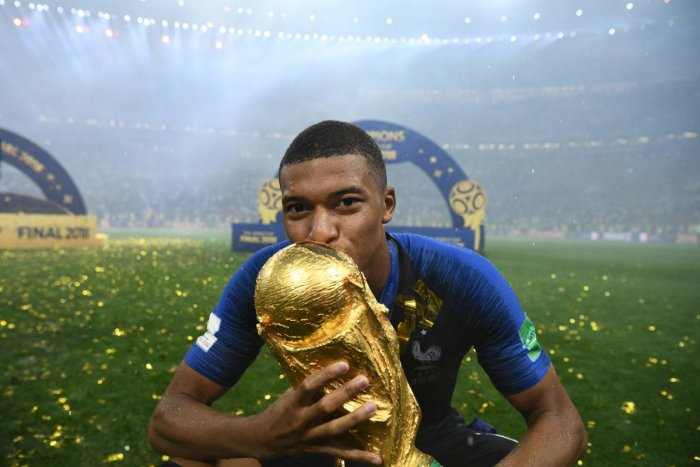 France's forward Kylian Mbappe has been shortlisted for the best FIFA Men's player award. AFP