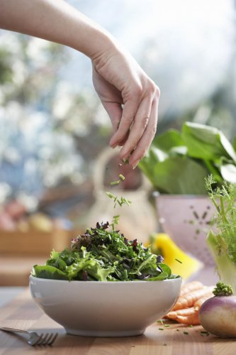 Include green leafy vegetables in your diet.