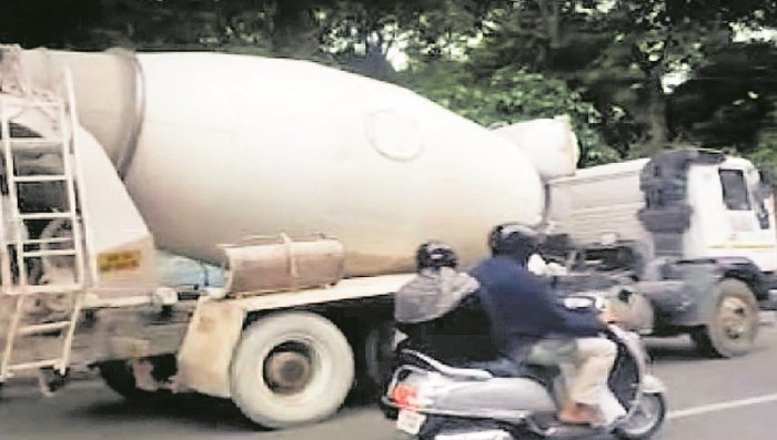 This truck knocked down Preethi, who was riding pillion with her sister to Lalbagh.
