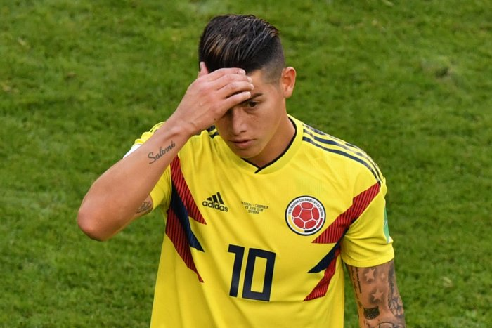 Colombia's James Rodriguez is the latest footballer to have tax problems in Spain. AFP