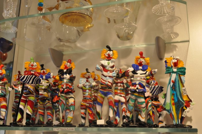 Glass artefacts in Murano. Photo by author