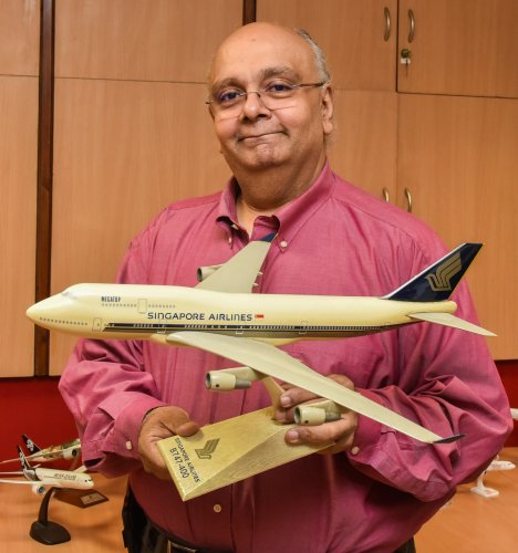 Devesh Agarwal has a collection of around 100 airplane models.