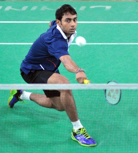 India's Sourabh Verma prevailed over Koki Watanabe of Japan 19-21, 21-12, 21-17 clinch the Russia Open title. DH File Photo