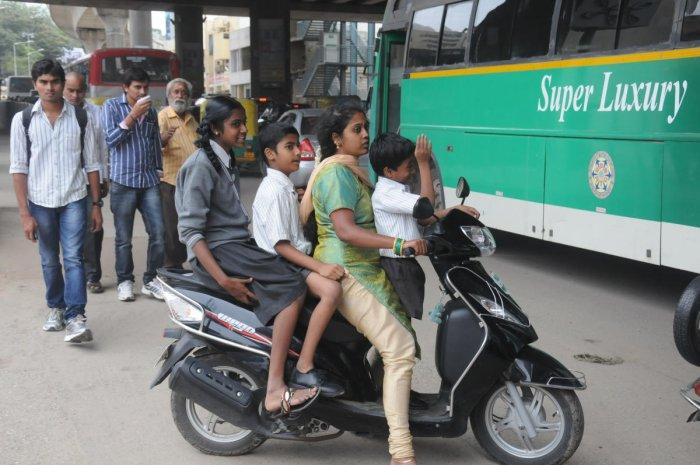 School kids in Bengaluru