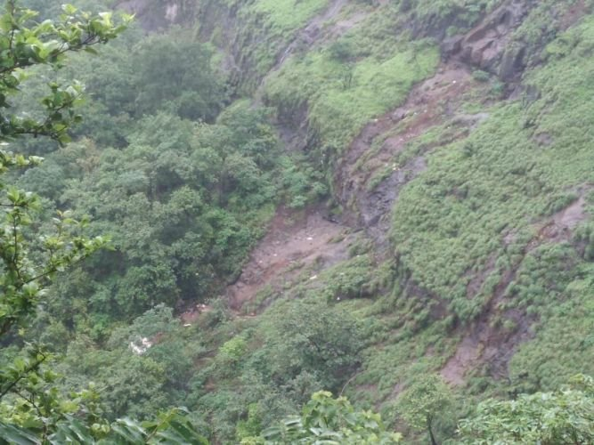 A view of the deep gorge at Poladpur in the Raigad district of Maharashtra.