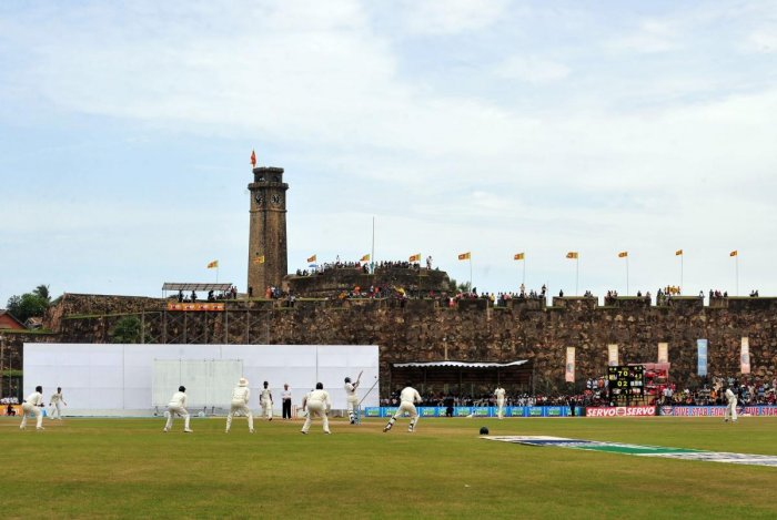 The Galle Stadium, with the 17th century Dutch fort forming as a backdrop, is one of the most beautiful cricketing venues in the world. AFP