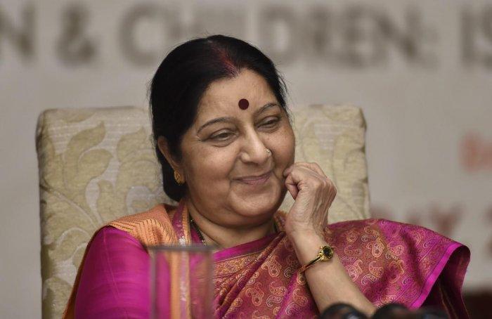 External Affairs Minister Sushma Swaraj. PTI file photo.