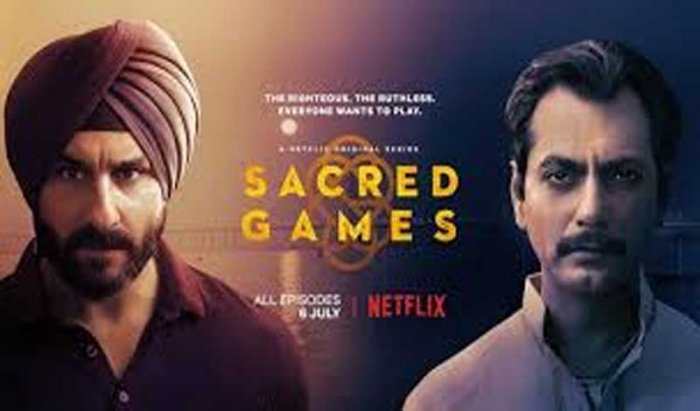 """""""Sacred Games"""" screenwriter Varun Grover says Jitendra Joshi is among those actors who """"surprised"""" him the most with his stellar performance in the Netflix's first India Original series. Poster"""