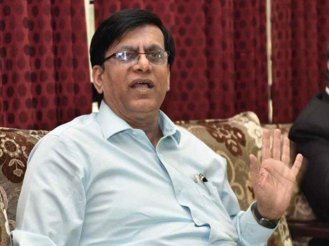In photo: Congress leader Basavaraj Rayareddy. DH photo.