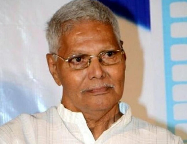 Veteran Telugu film producer K Raghava, who started his career in the black and white era, died here due to old age-related ailments. He was 105. (Picture courtesy Twitter)