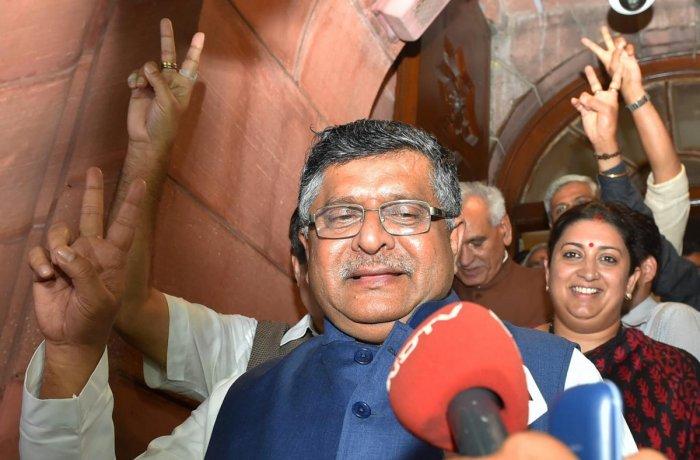 Union Ministers Ravi Shankar Prasad. PTI file photo