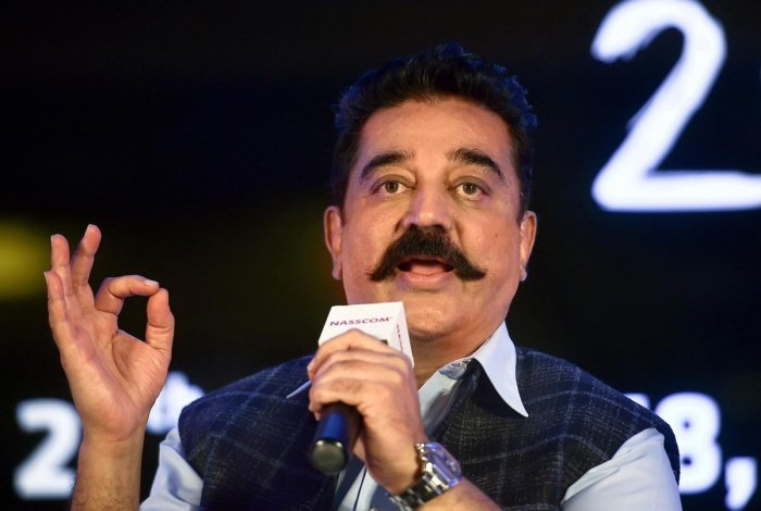 """Haasan, who launched his political party Makkal Needhi Maiam in February this year, does not see politics as the next step in his journey but as something """"essential"""" to his existence. (PTI file photo)"""