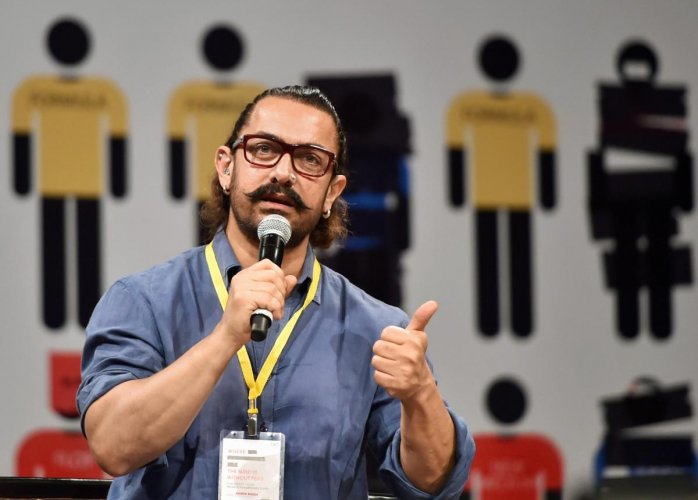 Bollywood actor Aamir Khan. (PTI Photo)