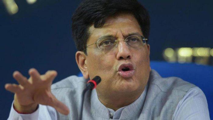 Railways Minister Piyush Goyal. PTI file photo