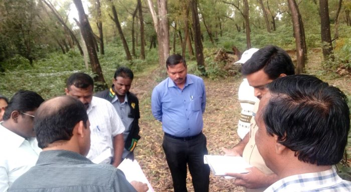 Officials inspect the land for the purpose.