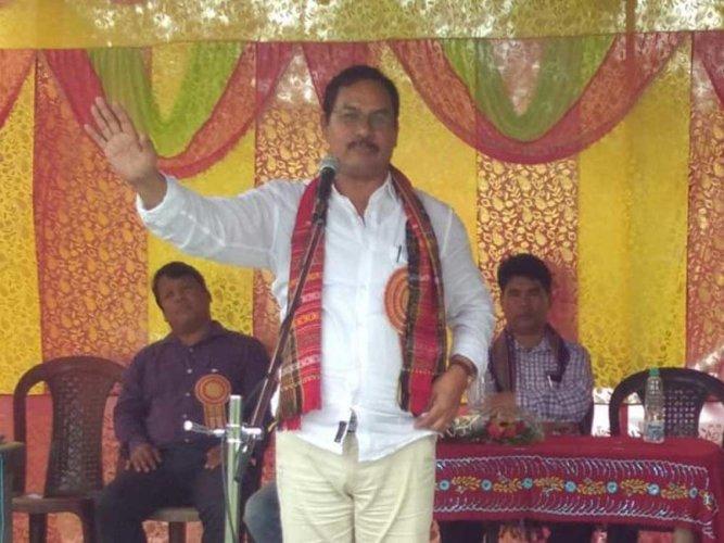 State Tribal Welfare Minister Mevar Kumar Jamatia. Image courtesy Twitter
