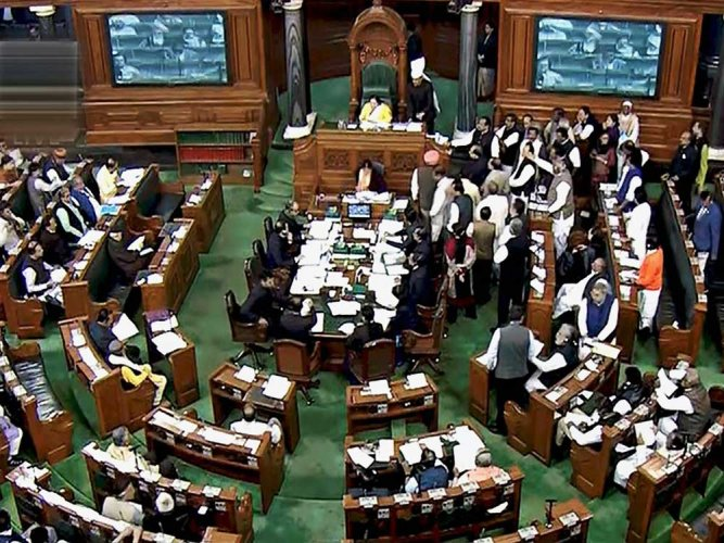 The Lok Sabha. PTI file photo