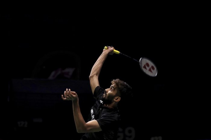 steady Kidambi Srikanth en route to his win against Pablo Abian of Spain in the World Championships in Nanjing. AP/PTI