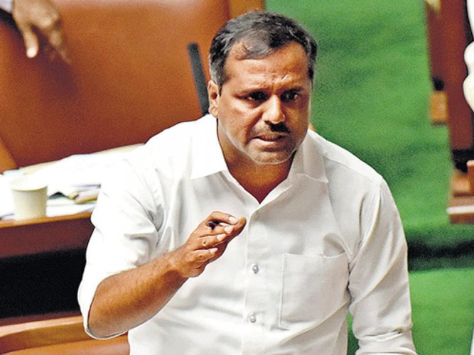 In photo: Minister for Urban Development and Housing U T Khader. DH Photo.
