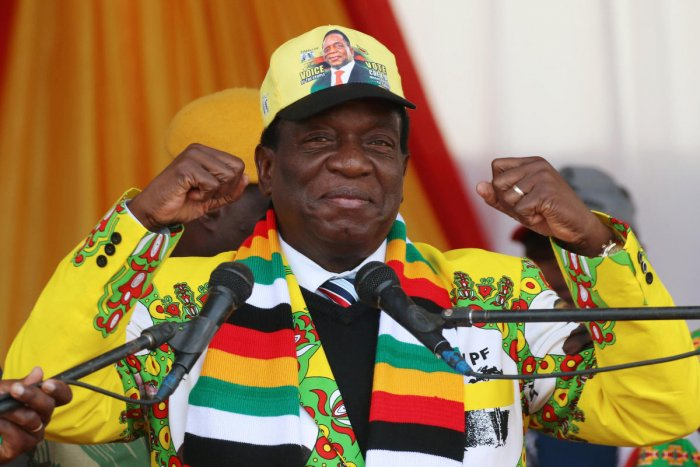Emmerson Mnangagwa. Reuters photo.