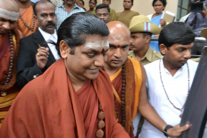 The godman should inform about his visit in advance, the judge said and added that he (Nithyananda) should not create any law and order problem. DH file photo.