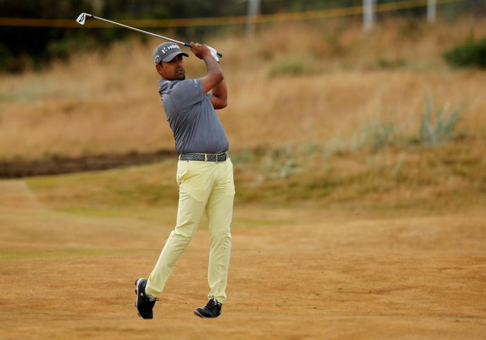 Landing six birdies against one solitary bogey, Lahiri was three shots behind the leader and two-time WGC winner, Ian Poulter. (Reuters file photo)