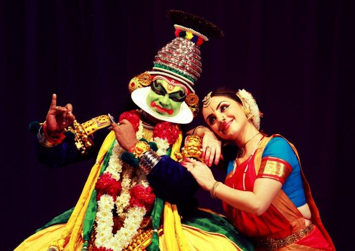 Dancer Paris Laxmi with her artiste husband