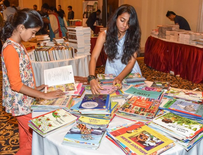 Many young poetry buffs turned up at the Bangalore Poetry Festival at The Leela Palace. The two-day festival concluded on Sunday. DH Photo by S K Dinesh
