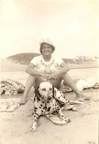 The author's wife Yvonne with Lady.