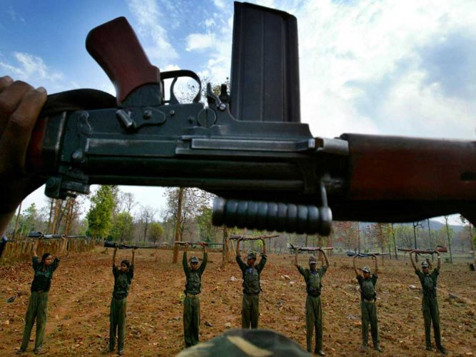 A gunbattle took place between the Maoists and the patrolling team for about half-an-hour. PTI file photo