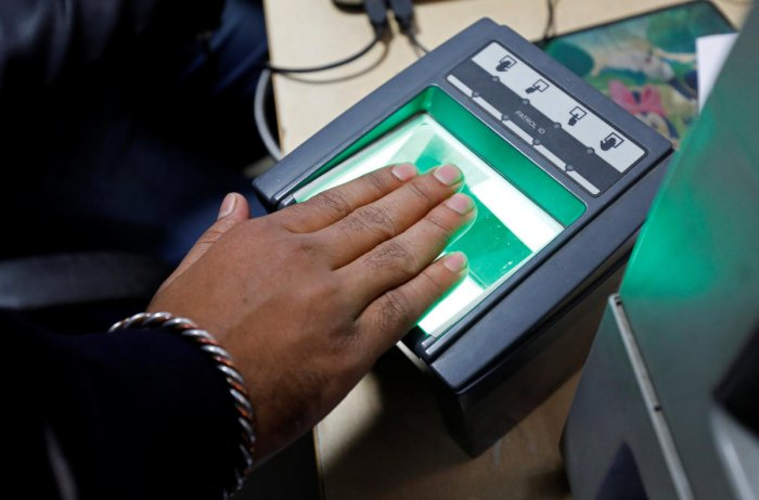 """Outgoing Trai chairman R S Sharma -- whose open dare to Twitterati on Aadhaar misuse had caused a social media furore -- asserted on Tuesday that mere knowledge of Aadhaar number cannot increase one's """"digital vulnerabilities"""". Reuters file photo"""