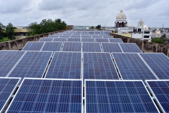 India is all set to comfortably achieve 100 GW of solar energy capacity by 2022 and has already installed solar capacity of 23.12 GW till July this year, Parliament was informed on Tuesday. DH file photo
