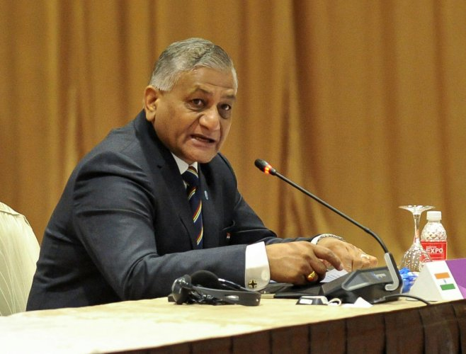 Indian Minister of State for External Affairs V K Singh. PTI file photo