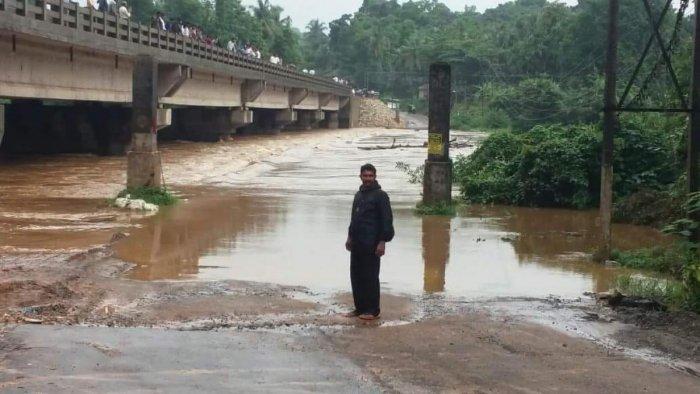 The Hosamata bridge on Uppinangady Kadaba road.