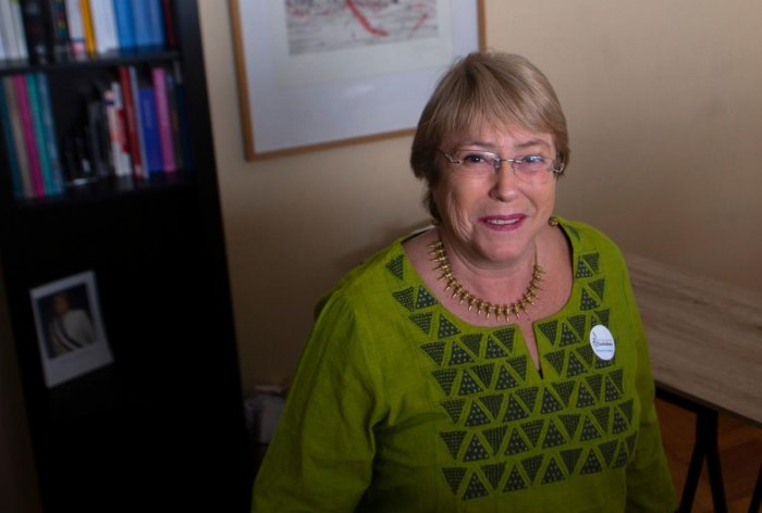 Former Chilean President Michelle Bachelet in Santiago on August 2, 2018. AFP