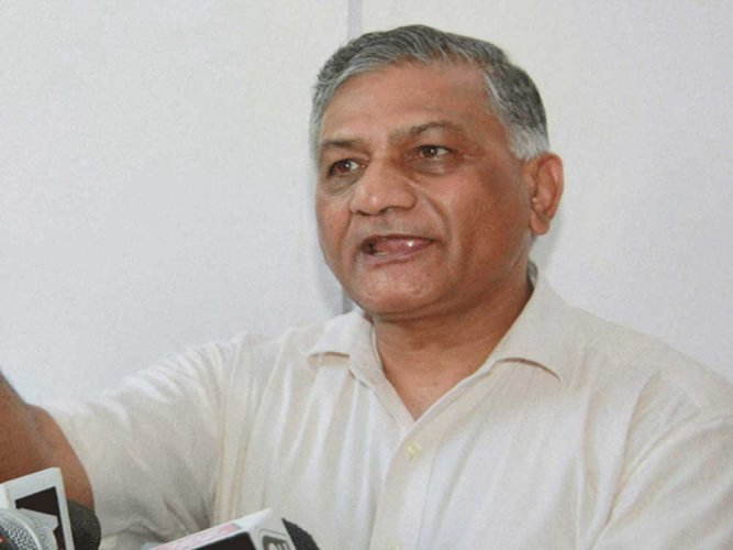 Minister of State in the External Affairs Ministry V K Singh. PTI file photo.