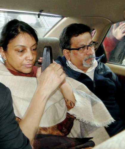 New Delhi: File photo of dentist-couple Nupur Talwar and Rajesh Talwar, who were on Thursday acquitted by the Allahabad High Court in the twin murder case of their daughter Aarushi and domestic help Hemraj. PTI Photo (PTI10_12_2017_000098B)