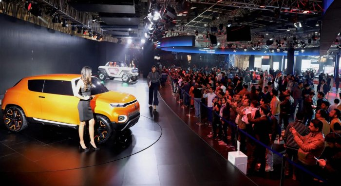 Greater Noida: Visitors click pictures Maruti Suzuki's concepts during Auto Expo 2018 in Greater Noida on Sunday. PTI file photo for representation.