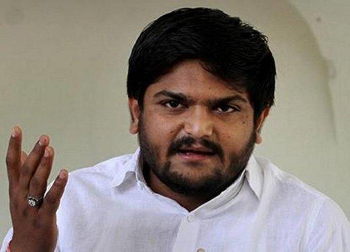 Patidar leader Hardik Patel.