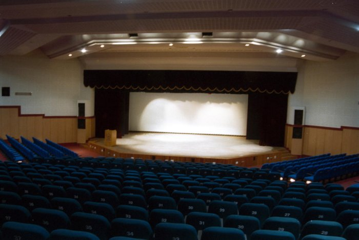 The interiors of the Jnanajyoti auditorium. DH photo by B.G. Hemanth