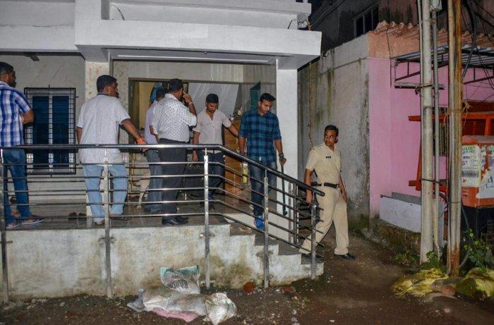 Maharashtra Anti-Terrorism Squad (ATS) raids the house of a Sanatan Sanstha member Vaibhav Raut at Nalasopara, in Palghar on Friday, August 10, 2018. (PTI Photo)