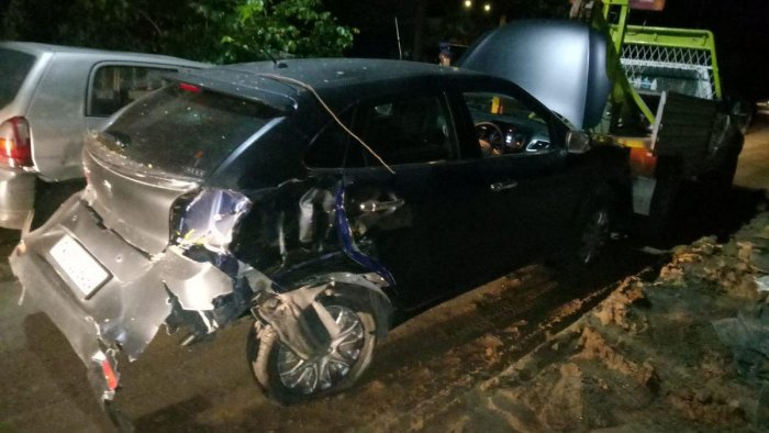 Tamil film Actor Vikram's son Dhruv was arrested after a car allegedly driven by him rammed into a parked autorickshaw here, injuring its driver, early today, police said. Picture courtesy Twitter