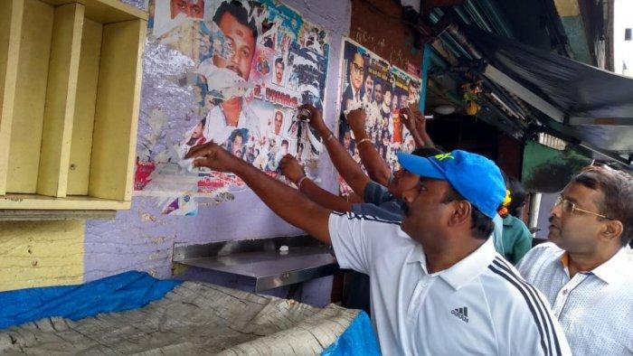 Mayor R Sampath Raj on Sunday held a special awareness campaign at Halasuru with other corporators.