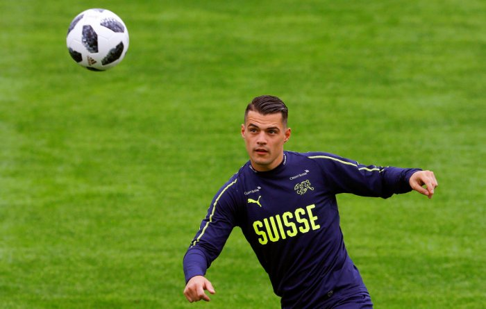 TEMPERAMENTAL TALENT: Granit Xhaka is among a host of young stars looking to inspire Switzerland in Russia. AFP