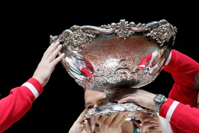 Delegates at the International Tennis Federation's annual meeting in Orlando will decide whether proposals pushed by federation chief David Haggerty. (Davis Cup Reuters file image)