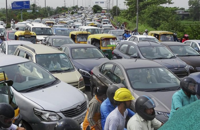 The MoRTH told a bench headed by Justice M B Lokur that hologram-based sticker of light-blue colour will be used for petrol and CNG-run vehicles while similar sticker of orange colour would be placed on diesel vehicles. PTI file photo