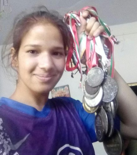 Garima Joshi, an athelete from Uttarakhand who met with an accident near Udupi.